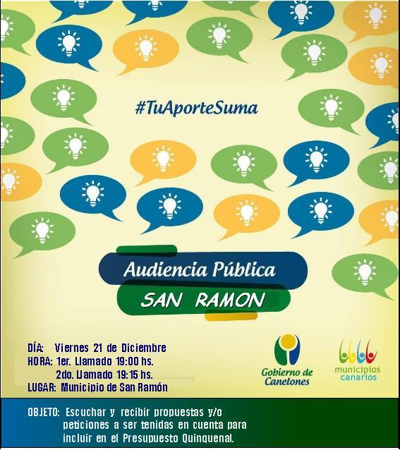 AUDIENCIA PUBLICA SAN RAMON