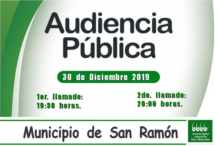AUDIENCIA PUBLICA EN SAN RAMON