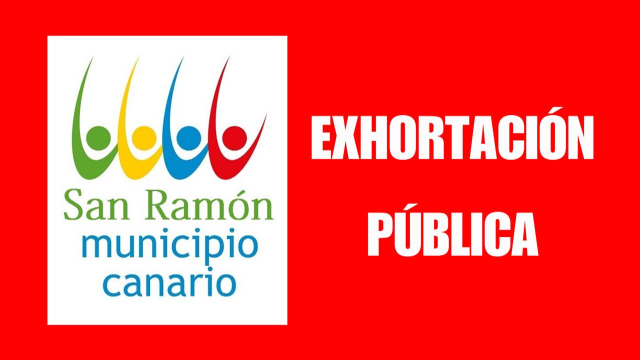 EXHORTACION PUBLICA DEL MUNICIPIO