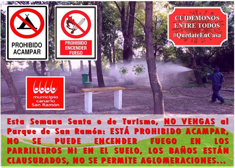 PARQUE MUNICIPAL DE SAN RAMON NO SE PUEDE ACAMPAR