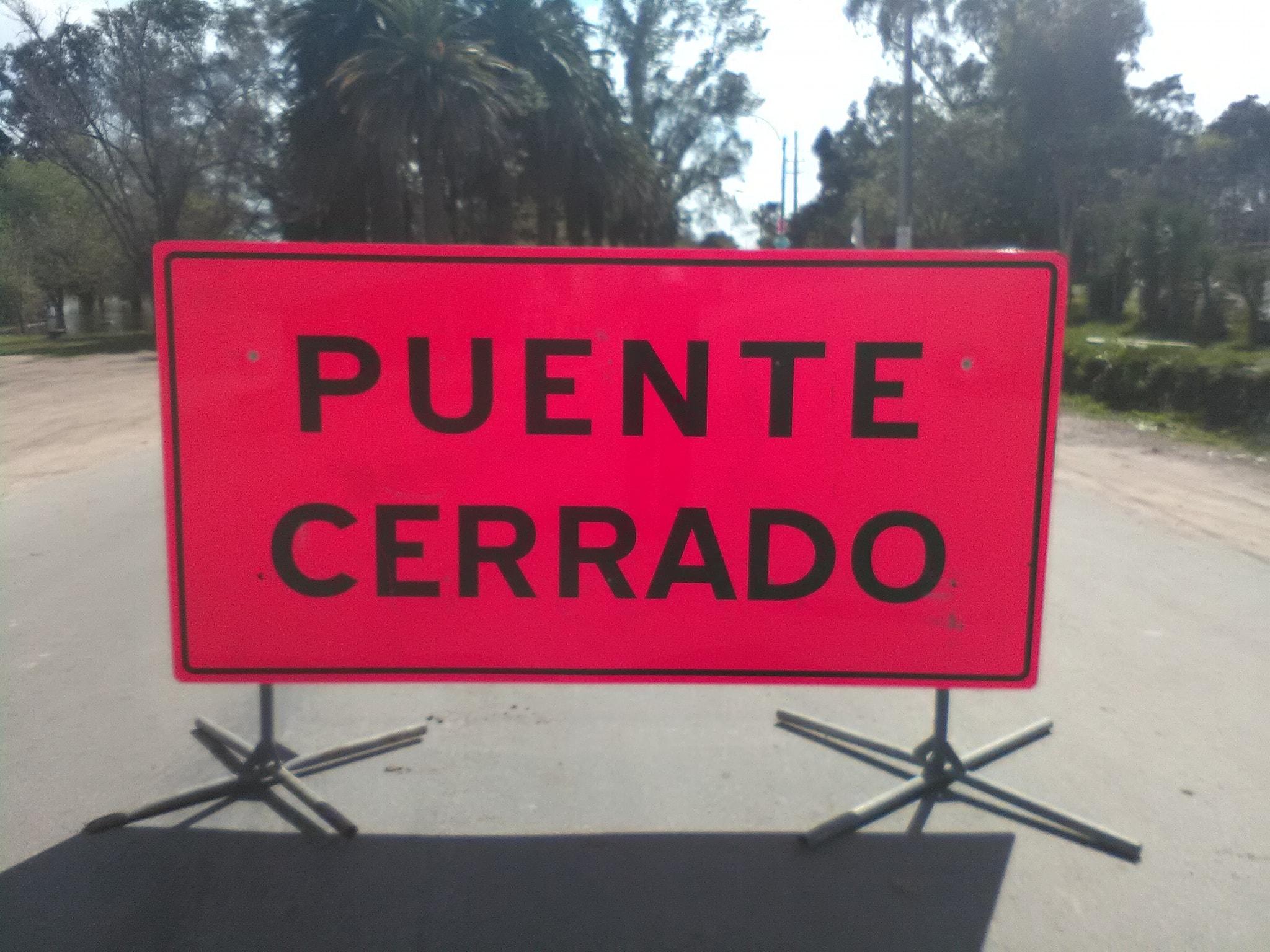 PUENTE CERRADO EN SAN RAMON
